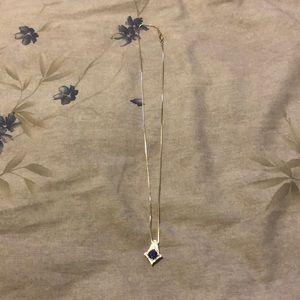 Sapphire stone silver necklace